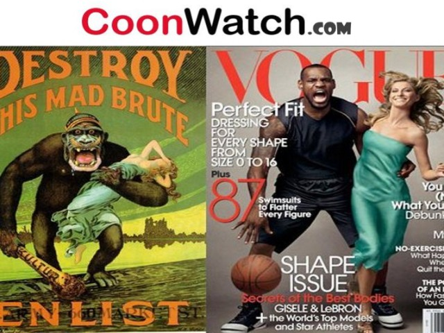 Lebron Cooning Vogue as a Black Buck