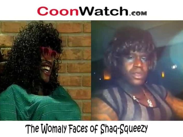 Dress Wearing Shaq Cooning as Shaq-Squeezy