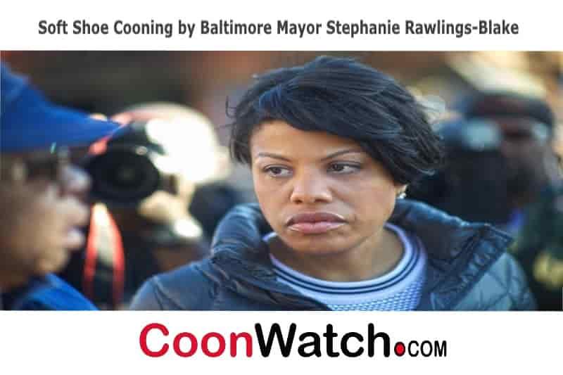 Baltimore Mayor Stephanie Rawlings-Blake Cooning